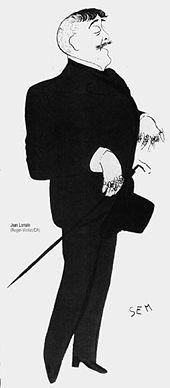 Jean Lorrain, as caricatured by Sem (Georges Goursat, 1863–1934)
