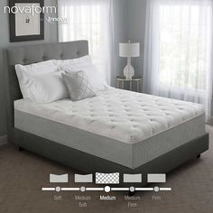 "Novaform 14"" Serafina Pearl Gel Queen Memory Foam Mattress"