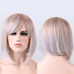 11.61$  Watch here - http://di3lv.justgood.pw/go.php?t=199939701 - Short Ombre Full Bang Straight Heat Resistant Fiber Wig 11.61$