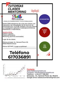Clases particulares 35€ Mentoring desde 50€