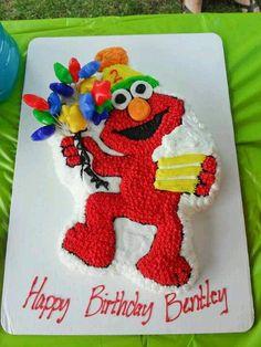 instead of starts do balloons Birthday Cakes, 2nd Birthday, Elmo Cake, Sesame Street Birthday, Cake Ideas, Children, Kids, Cake Decorating, Balloons