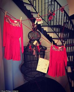 Elf on the Shelf with style:The dress is a special one as according to Busy, Santa's elves arrived with a matching dress for both her girls on Tuesday morning