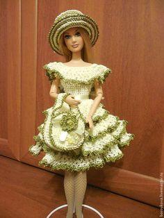 Одежда для кукол ручной работы. Ярмарка Мастеров - ручная работа. Купить Дыхание весны. Handmade. Платье летнее, ленты