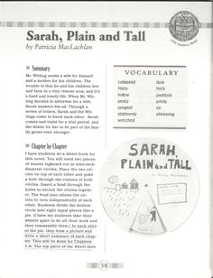 Printables Sarah Plain And Tall Worksheets 25 super fun activityproject ideas for sarah plain and tall homemakers journal achievement days book review tall