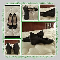 Like New Black Dress Shoes Size 10 M  Like New Woman's Dress Wedges Size 10 Medium Classic Black With Silver Buckle Detail. These Are Very Comfortable & In Excellent Like New Condition Only Worn 2 Times Brand Is Apt 9 From Kohl's  NO TRADES  NO PayPal  NO LOWBALLING    Apt. 9 Shoes Wedges