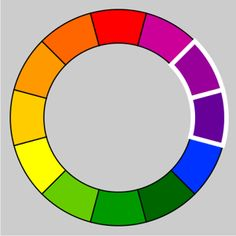 Analogous colors sit next to one another on the color wheel. These colors are in harmony with one another.
