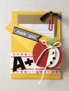 Teacher gift card holder. Thank you teacher card. by CallMeCraftie