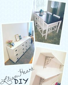 DIY furniture makeover country romantic
