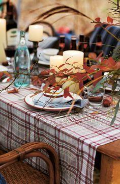 Beautiful Fall Harvest Dinner Table