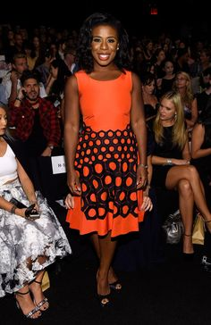 "Uzo Aduba at Vivienne Tam | The Cast Of ""Orange Is The New Black"" Is The Best Dressed At Fashion Week"