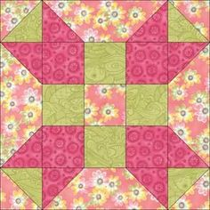 Girly quilt block