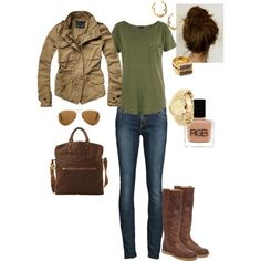 """Khaki Green"" by angela-reiss on Polyvore"