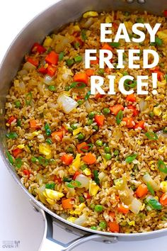 The Best Fried Rice! The Best Fried Rice! Learn how to make fried rice with this classic recipe. It only takes 15 minutes to make, it's ea. Vegetarian Recipes, Cooking Recipes, Healthy Recipes, Cooking Pasta, Fast Recipes, Oven Recipes, Easy Cooking, Crockpot Recipes, Making Fried Rice