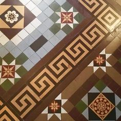 This Victorian floor tile is a brilliant example of neutral grays and browns incorporated into the same design. Amy Wax, Tile Design, Brown And Grey, Tile Floor, Neutral, Victorian, Colorful, Flooring, Instagram Posts