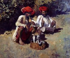 The Snake Charmers, Bombay - Oil Painting