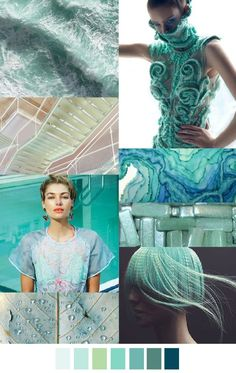 MINTY FRESH  we love this colour - think crisp aqua-green waters... it's a throw back but with a modern twist