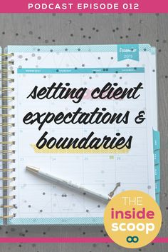 Have you been clear with your clients on what the boundaries and expectations are for your business relationship? *PIN* and listen in to this podcast episode and get the Scoop on setting clear expectations and boundaries for your service-based business.