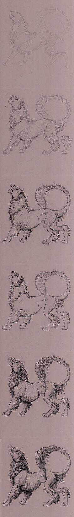 lion steps by hibbary.deviantart.com on @deviantART