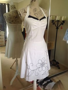 1950s White Dress