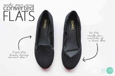 DIY Convert your Loafers into Cute V Flats @ mintedstrawberry.blogspot.com