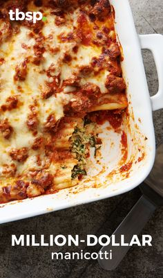 Cream cheese in the ricotta filling and a splash of cream in the sauce give this classic Italian baked pasta an added richness.