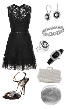 """Lace Dress Series in Black"" by colourmepretti ❤ liked on Polyvore featuring Elie Saab, Badgley Mischka, Leighton Denny, Blue Nile, Miadora, bürgi and Bulgari"