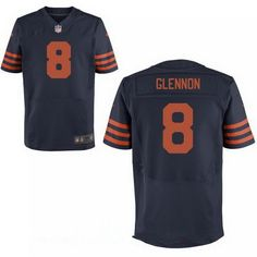 25bcc43d04e Men's Chicago Bears Mike Glennon Blue With Orange Alternate Stitched NFL  Nike Elite Jersey