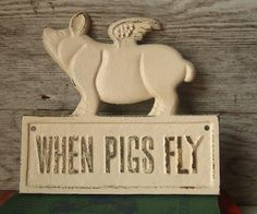 I want a collection of flying pigs, just saying :o]