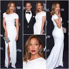 Jennifer Lopez in Roland Mouret at the 2016 Golden Globes InStyle & Warner Bros After Party.