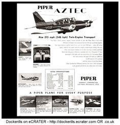 Piper Aztec Advert. From Interavia Magazine, 1959.