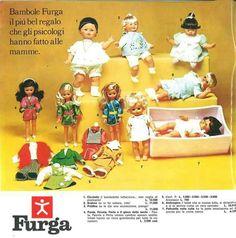 Paola Peonia Perla ed altre bambole Furga nel catalogo tuttogiocattoli del 1973-74
