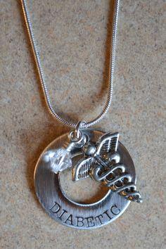 Hand stamped medical necklace  Medical Alert by LauriginalDesigns, $25.00