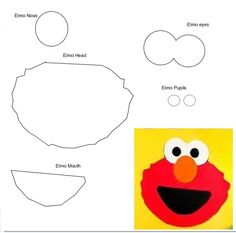 Printable elmo template elmo birthday party elmo for Printable elmo cake template