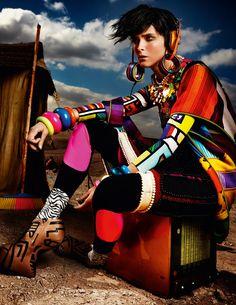 Global Bazaar I Carmen Kass I Mario Testino I Vogue UK