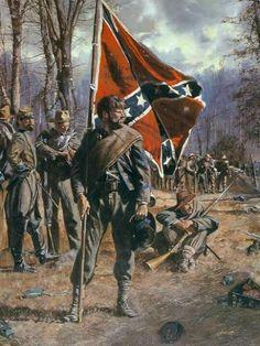 Civil War Art, Confederate Flag, Civilization, History, Painting, Flags, Historia, Painting Art, Paintings