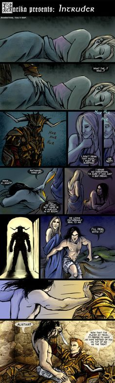 Intruder by yuhime on deviantART (Nathaniel's grey warden boxers though)
