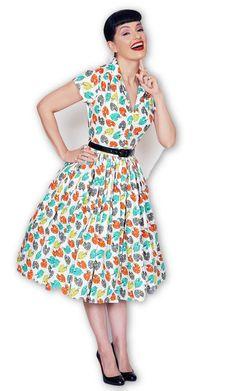 Kelly Dress in Pretty Palette print #1950s-pin-up #50s-dresses #50s-pin-up #bernie-dexter #cf-size-3xl #cf-size-4xl #cf-size-l #cf-size-m #cf-size-s #cf-size-xl #cf-size-xs #dress #pin-up-dress #pin-up-dresses #pinup #pinup-dress #rockabilly #rockabilly-pin-up #vintage-clothing #vintage-dress #vintage-inspired-clothing