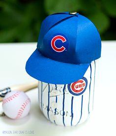 Mason Jar Craft: Baseball Uniform Mason Jar