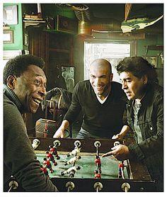 Pele, Zidane y Maradona, unos monstruos de la cancha.