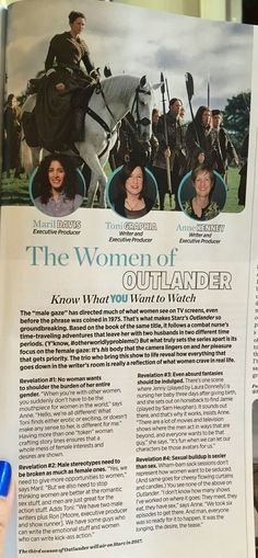 The women of Outlander in the 2016 October's issue of Womens Health