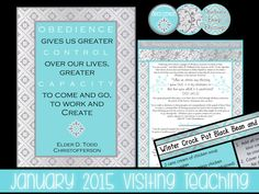 January 2015 Visiting Teaching Printables   Wordy Wisdom   Perfect for a wintry VT visit! #january2015 #visitingteaching