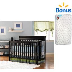 Graco Stanton Crib (Your Choice of Finish) with BONUS Crib Mattress Bundle at WALMART $159.98
