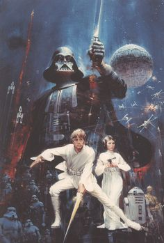 Star Wars Art  Final painted artwork for Star Wars by MakeItBooks