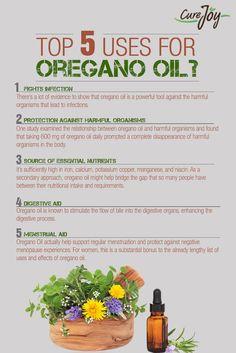 Top 5Uses for Oregano Oil ==>
