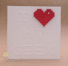 Tarjeta Geek de San Valentin  I Heart My Geek por LeCartelier, £2,50