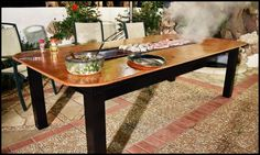 Barbecue Grill and Table Combo Main Image