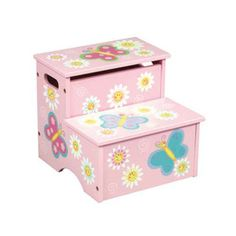 Butterfly Collection - Step Stool with Storage