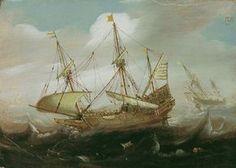 Cornelis Isaacksz Verbeeck, SCHIFFE AUF BEWEGTER SEE., Auktion 880 Alte Kunst, Lot 1163