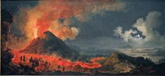 Volaire, Mt. Vesuvius, 1771, Chicago AIC  Amazing to see in person.