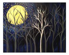 Landscape-Fall Moonlight